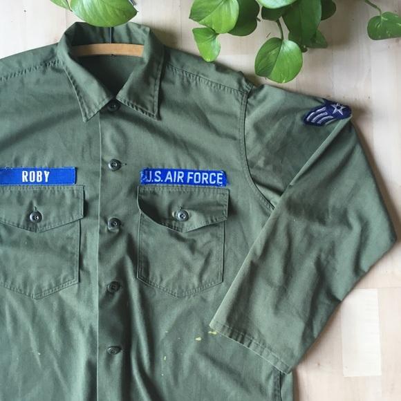 Vintage Other - VINTAGE US Air Force Shirt Jacket Olive S-XL